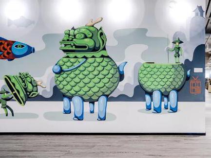 上海最长室内壁画落户拓观